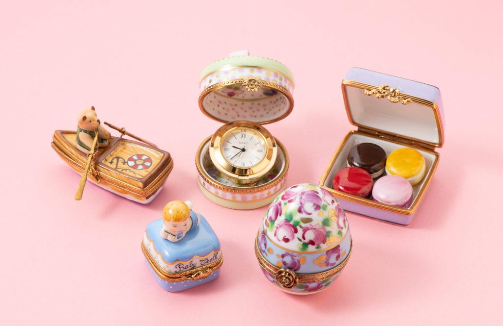 フランスの可愛い磁器「リモージュボックス」をサプライズなお祝いの品に!