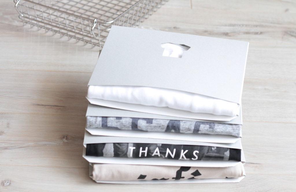 シワなく簡単にたたんで飾れる「TATEMU」はTシャツ収納の切り札!