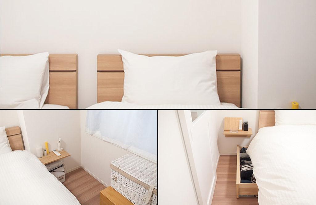 【6畳間にベッド2台】狭い寝室を心地よく使う4つの工夫