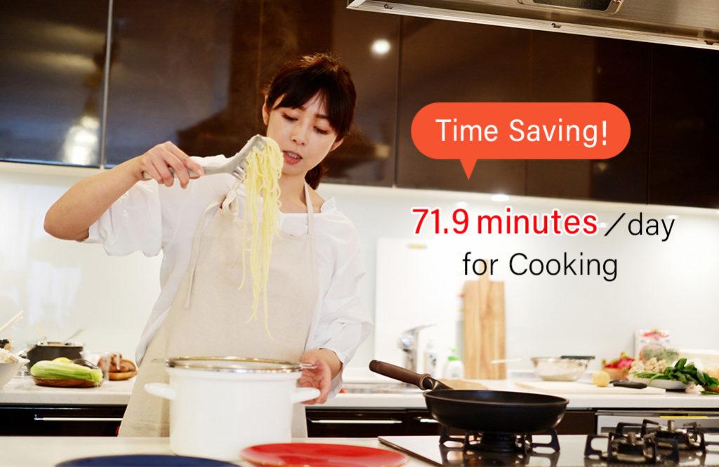 主婦が料理に使う時間、1日平均1時間10分を【宅配食サービス】で賢く時短!