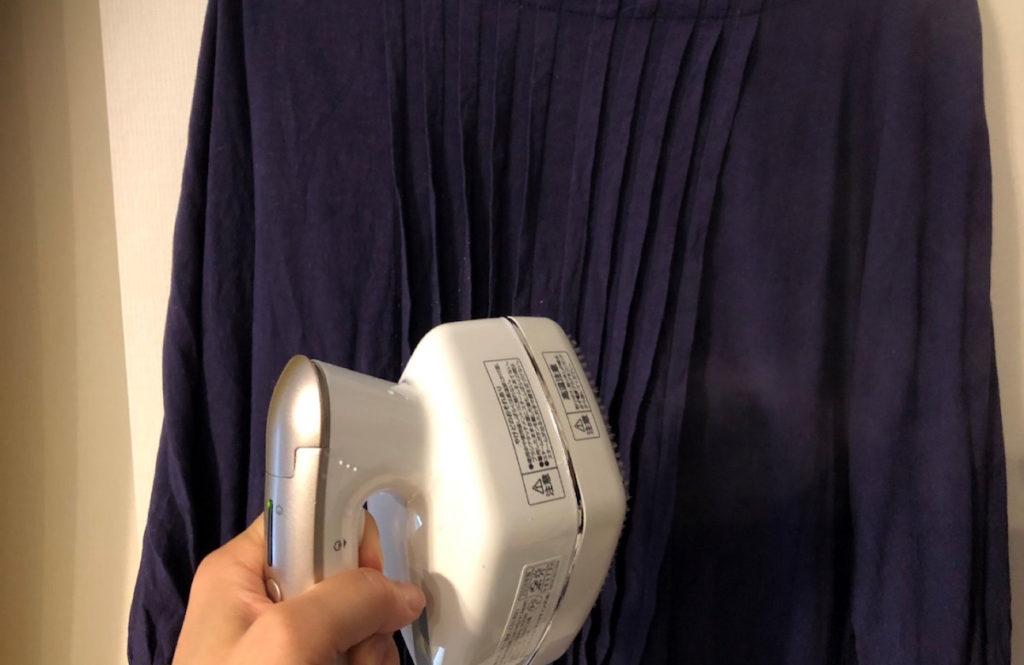 「衣類スチーマー」初体験。普段着も2割増しできれいに見えるその仕上がりにびっくり!