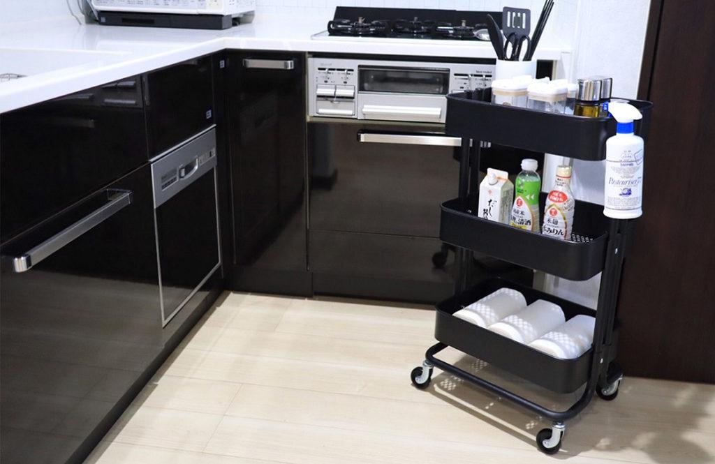 いろんな部屋の収納に使える!「IKEAのキッチンワゴン」4つの活用例
