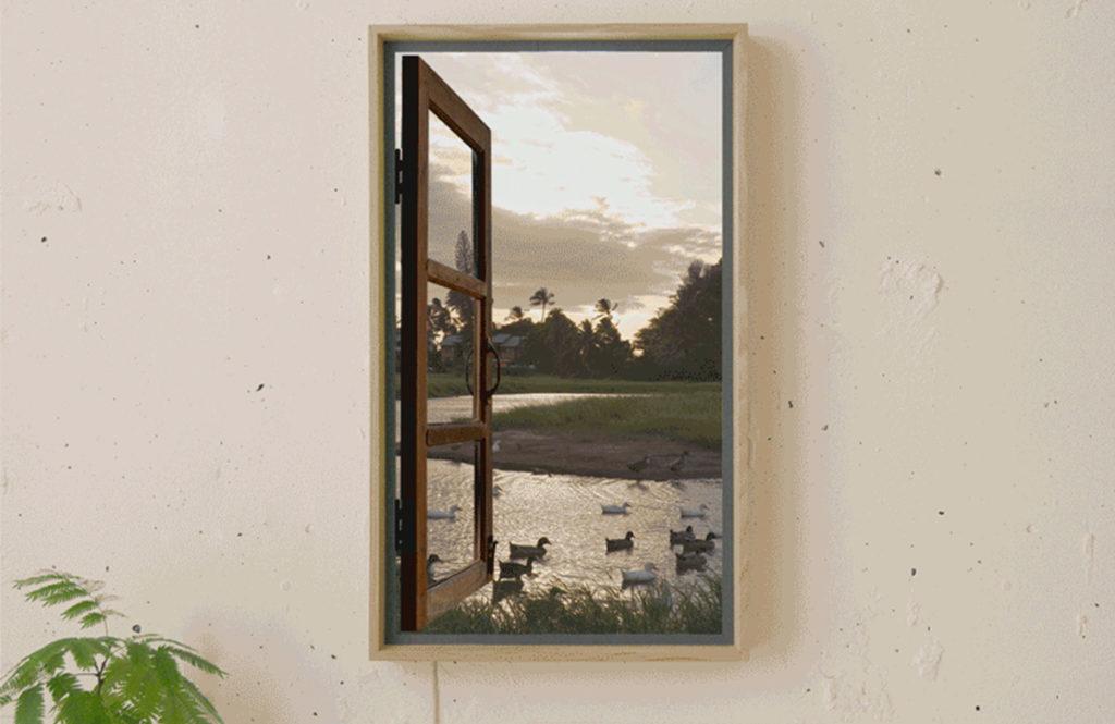 世界につながる画期的デジタル窓「アトモフ ウインドウ」で自宅トラベル!?