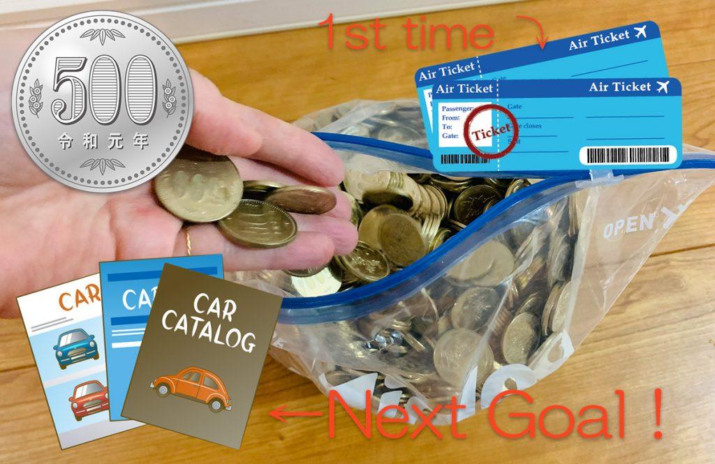 4年で250万円たまった「500円玉貯金」でマイカー購入が近づいた!